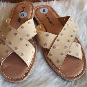 Dirty Laundry Leather  Sandals...
